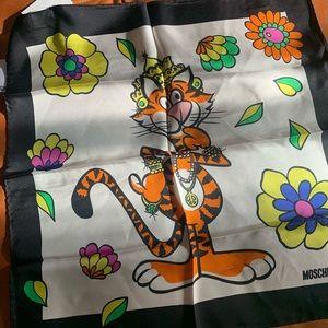 Super fun silk scarf from Moschino